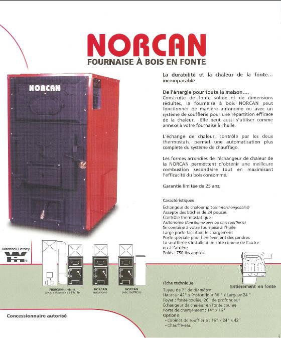 Norcan en fonte for Fournaise a bois exterieur